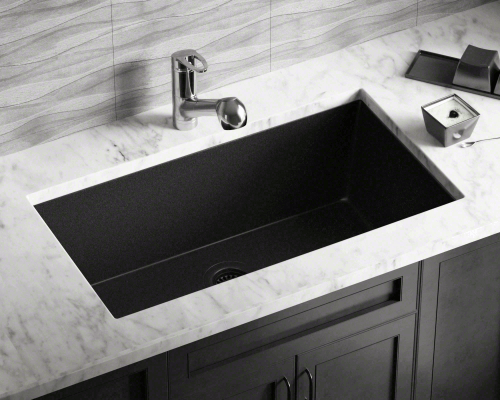 X  Kitchen White Porcelin Sink Non Center Drain